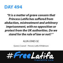 TWO EMINENT QC'S JOIN GROWING CAMPAIGN TO FREE PRINCESS LATIFA #FREELATIFA