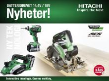 Hitachi lanserer flere spennende nyheter innen sortimentet for batterimaskiner!