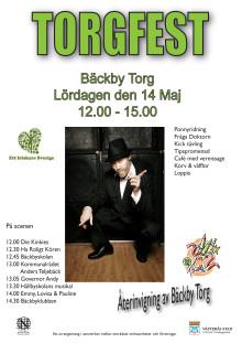 Program för Torgfesten på Bäckby den 14 maj 2011