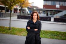Elaine Eksvärd avslutar konferensen drogFOKUS 2018 i Uppsala