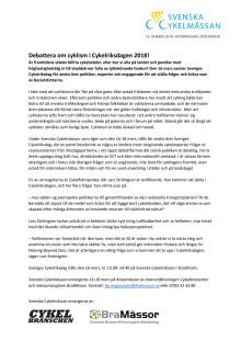 Debattera om cyklism i Cykelriksdagen 2018