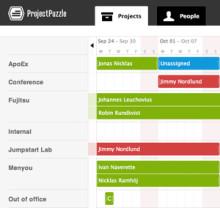 Project Puzzle - webbtjänst för att hantera tid och projekt