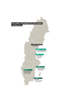 Sverigekarta över tillgång till sterilisering