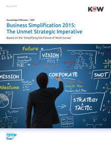 Wharton undersøkelse: Business Simplification 2015: