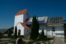 Solgte taget på Gadbjerg Kirke