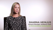 General Manager for Kimberly-Clark New Zealand, Sharna Heinjus talks sustainability