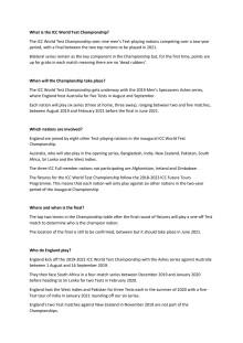 ICC World Test Championship FAQs