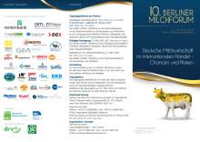 Programm zum 10. Berliner Milchforum