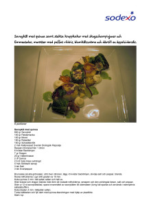 Restaurang Stjärnan - Savoykål med quinoa samt stekta kroppkakor med skogschampinjoner och Emmentaler, morötter