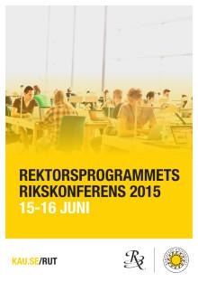 Rektorsprogrammets rikskonferens 15-16 juni i Karlstad