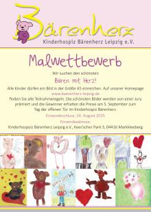 Mallwettbewerb: Gesucht wird der schönste Bär mit Herz! (Plakat)
