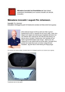 Månadens innovatör i augusti, Per Johansson.