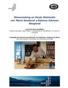 Showcooking con Mario Sandoval y Rasmus Johnsen Skoglund