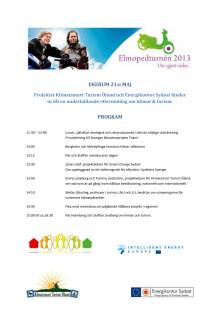 Program Elmopedturnen och hållbar turism Ekerum Öland