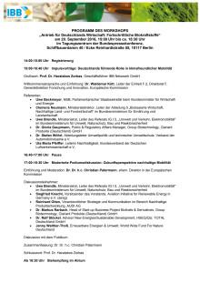 """Programm Workshop """"Fortschrittliche Biokraftstoffe"""""""