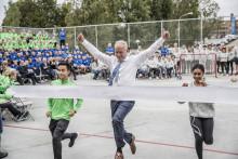 Kunnskapsministeren åpnet ungdomsskole på Hasle med kappløp