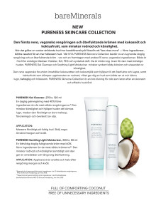bareMinerals PURENESS Collection