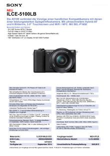 Datenblatt ILCE-5100LB von Sony