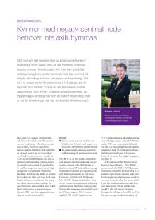 Bröstcancer - överläkare Elisabet Lidbrink rapporterar från ASCO 2010