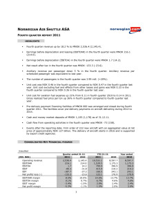 Norwegian Q4 11 Report