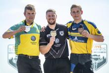Emil Hansson bronsmedaljör och guld till Nya Zeeland i Timbersports Rookie-VM