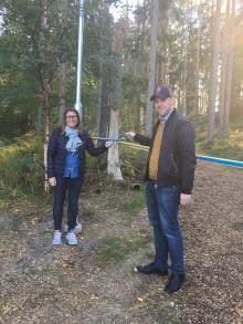 Elljusspår i Laxne invigt