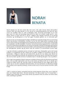 Norah Benatia BIO