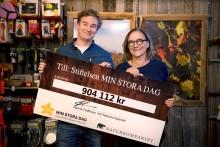 Naturkompaniet skänker närmare 1 miljon kronor till stiftelsen Min Stora Dag