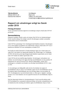 Social resursförvaltnings rapport om utredningar enligt lex Sarah 2019