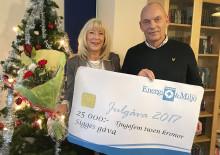 Julgåva på 25 000 kronor till Sigges gåva