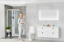 Nytt, smartere dusjkabinett fra Porsgrund
