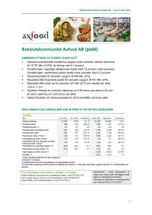 Bokslutskommuniké Axfood AB – 1 jan–31 dec 2015