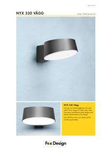 Produktblad Nyx 330 vägg