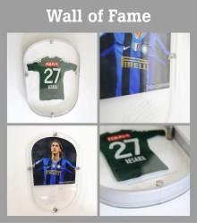 Skyltkoncept och skyltar till Wall of fame Tele2 arena