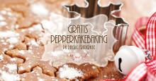 Gratis pepperkakebaking på Deiglig Bakeri, Frederikkehuset på Blindern