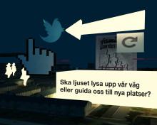 Annie Lööf inviger nytt belysningsprojekt i Väsby