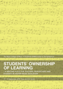 "Symposium ""Students ownership of learning"", KMH, Sthlm 15-17/9 2010"