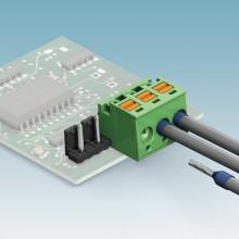 Ny kompakt kontakt med Push-In-anslutning och med låsning för stiftlist