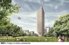 """Trähus med 34 våningar förslag till HSBs """"Turning Torso"""" i Stockholm"""