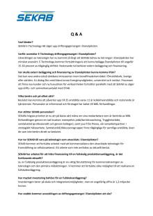 SEKAB E-Technology Q & A