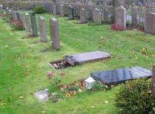 Många nedlagda gravstenar i Göteborg