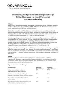 Utvärdering av utbildningsinsatser på Polisutbildningen vid Umeå Universitet