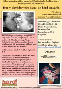 Föräldraföreläsning i Uppsala