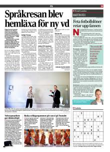Dagens Industri: Språkresan blev hemläxa för ny vd
