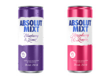 Absolut MIXT Berries ergänzt Ready-to-Drink Portfolio