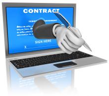 Bli av med kontrakt på papper och per fax