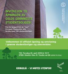 Invitasjon til åpningen av Oslos grønneste studentboliger!