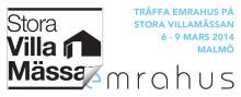 Emrahus på Stora Villamässan Malmö 6-9 mars 2014