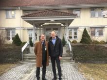 Hållbarhetsfrågor på agendan när landshövdingen besökte OBOS i Myresjö