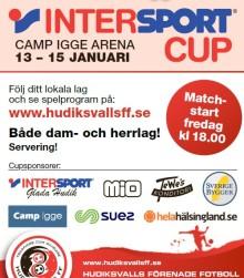 Kom och se på fotboll på grönt underlag mitt i vintern! Intersport Cup 13-15 januari. Matchstart idag fredag 13 januari kl. 18.00!